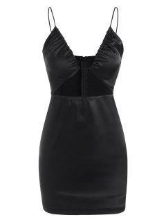 Cutout Cami Bodycon Dress - Black M