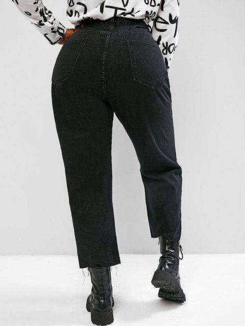 Jeans Talla Extra Rasgado - Negro 1XL Mobile