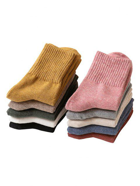 online 10 Pairs Solid Breathable Anti-Chafe Ankle Socks Set - MULTI  Mobile