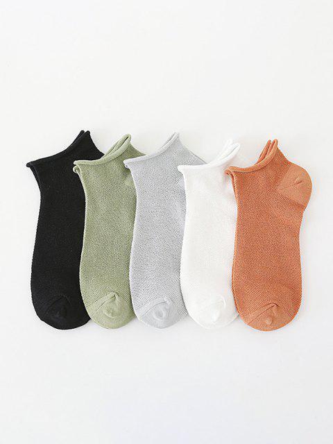 5 Paar Rolle Top Aushöhlende Atmungsaktive Socken Set - Multi  Mobile