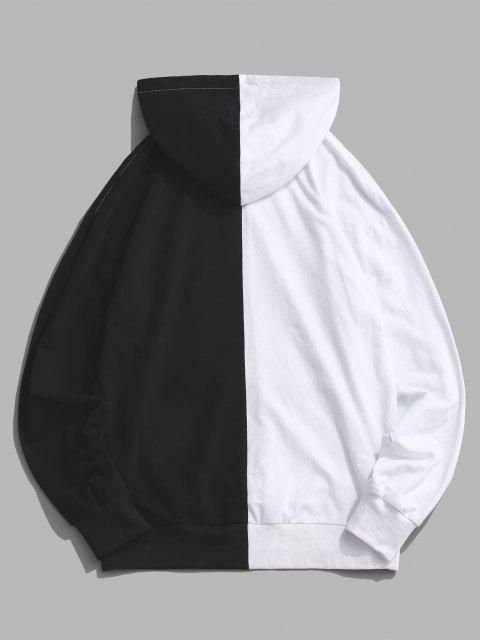 Sudadera con Capucha de Dos Colores de Flama - Negro S Mobile