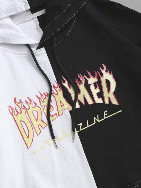 Sudadera con Capucha de Dos Colores de Flama - Negro XL Mobile