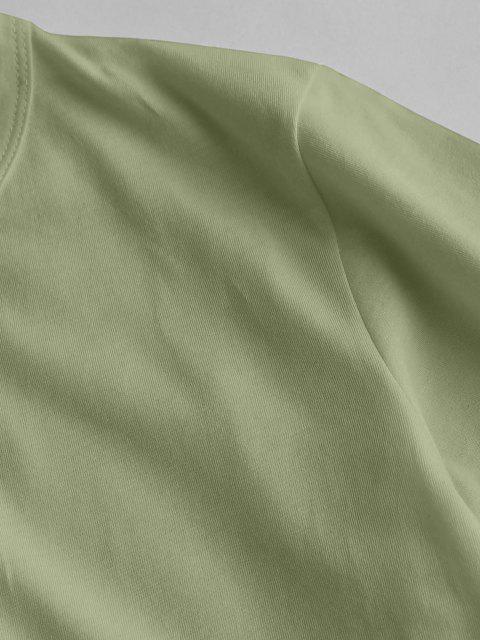 Figur Planet Druck Kurzarm T-Shirt - Hellgrün L Mobile