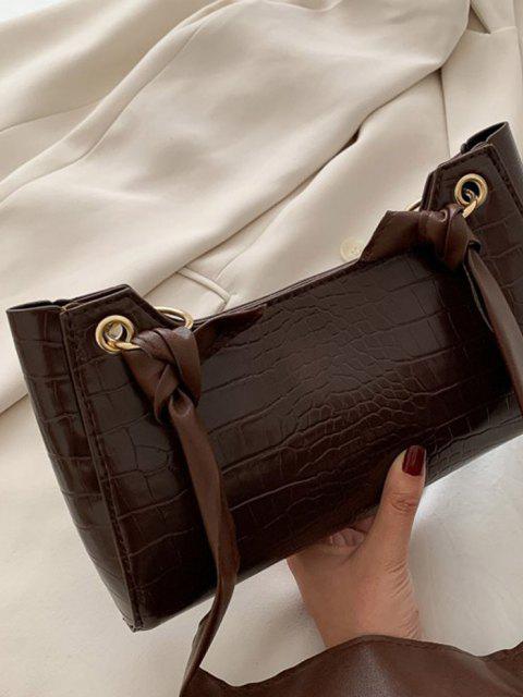 Borsa a Tracolla Annodata - marrone scuro  Mobile