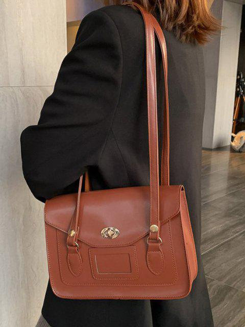 Retro Cover Shoulder Bag - البني الفاتح  Mobile