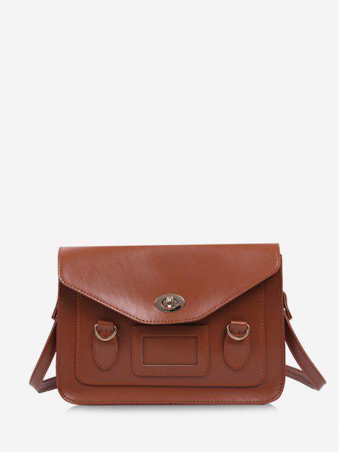 trendy Retro Cover Shoulder Bag - LIGHT BROWN  Mobile