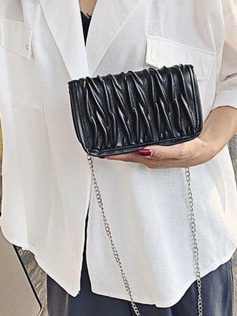 Bolsa Cadena Plisada - Negro  Mobile