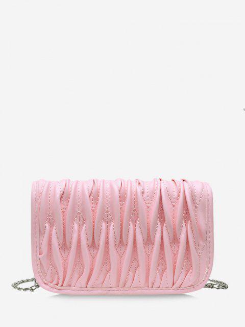 Bolsa Cadena Plisada - Cerdo Rosa  Mobile