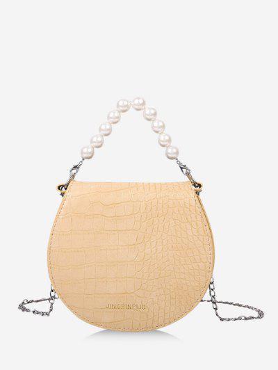 Bolso De Cadena De Perlas De Imitación - Vara De Oro