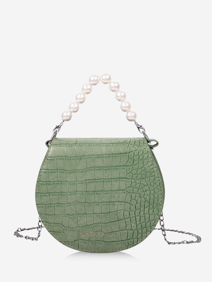 Zaful Faux Pearl Chain Handbag
