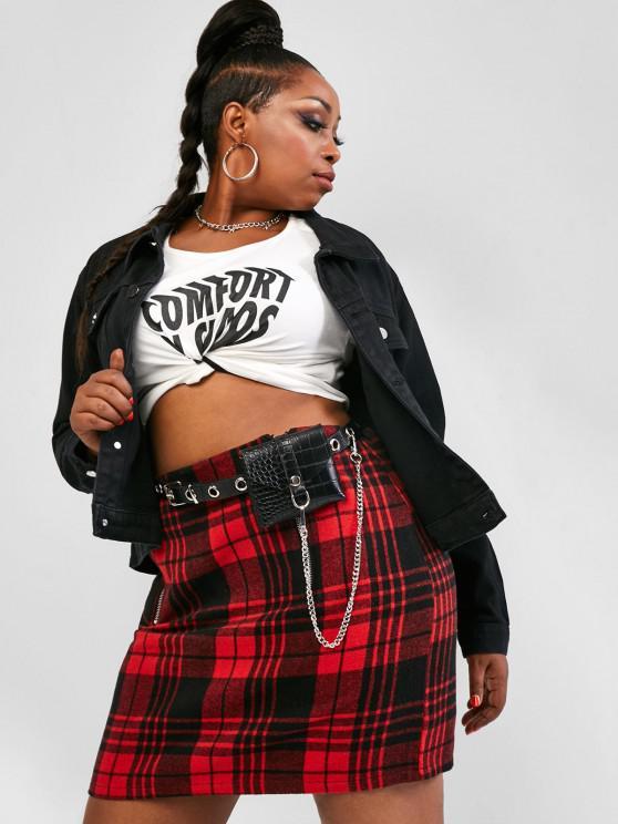 outfit Plus Size Solid Denim Jacket - BLACK L
