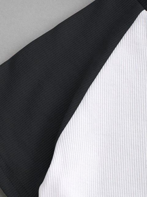 Camiseta emagrecedora de mangas longas - Preto S Mobile