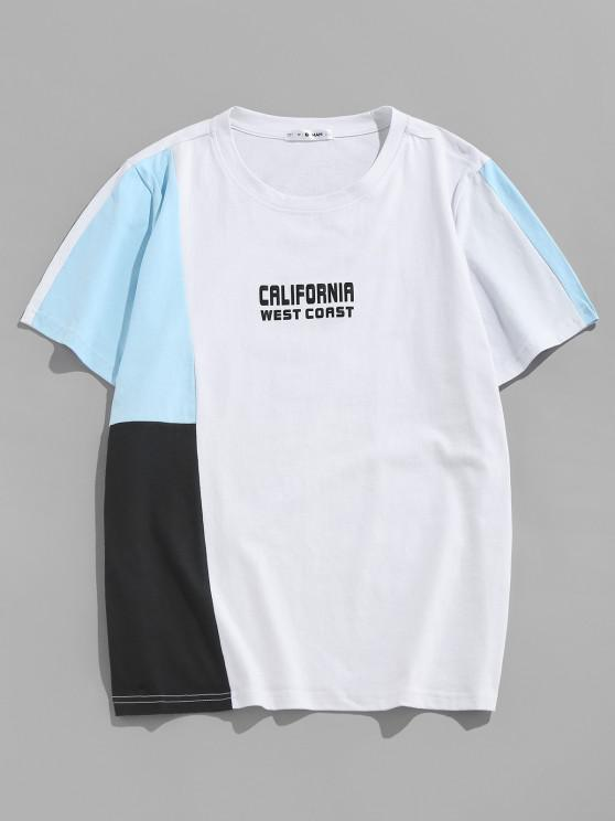 ZAFUL CALIFORNIA WEST COAST Colorblock T-shirt - متعدد XXL