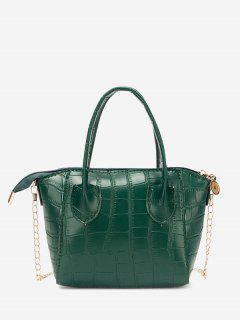 Chain Stone Grain Tote Bag - Pine Green