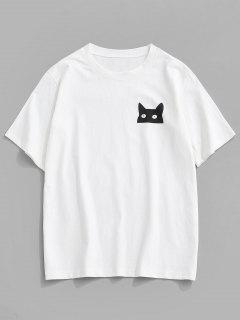 ZAFUL漫画猫は、定番Tシャツ - 白 S