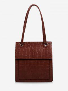 Stone Grain Cover Tote Bag - Red Wine