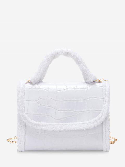 Bolsa de Mano con Cadenas - Blanco  Mobile