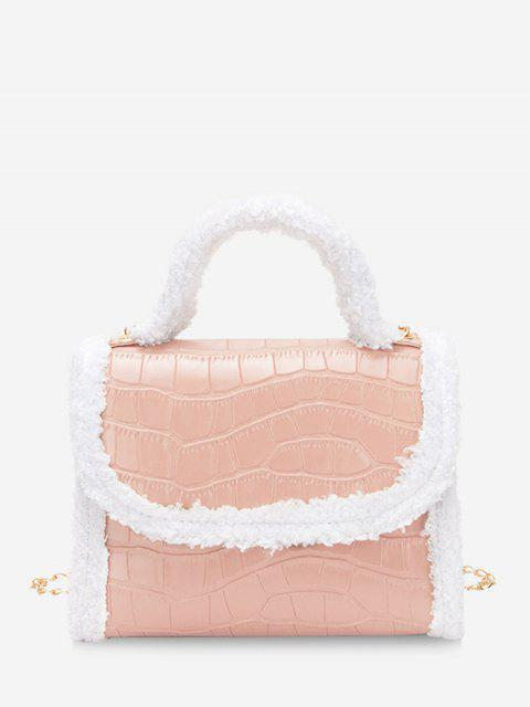 Flauschige Rand Kette Abdeckung Handtasche - Rosa  Mobile