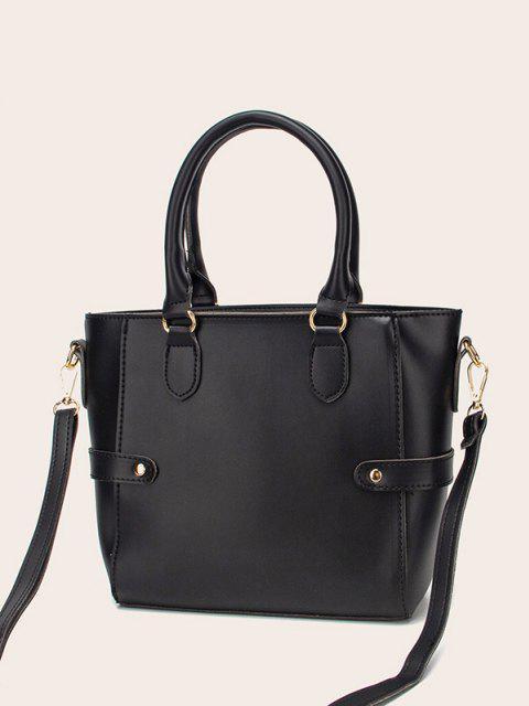 Pom Pom Anhänger Einkaufstasche - Schwarz  Mobile
