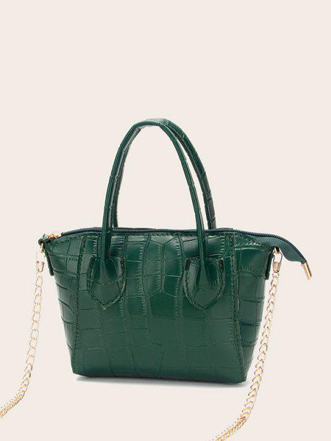 shops Chain Stone Grain Tote Bag - PINE GREEN  Mobile