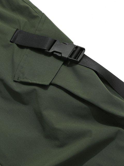 Pantalones de Carga con Correa de Hebilla de Multi-bolsillo - Verde de Jungla  XL Mobile