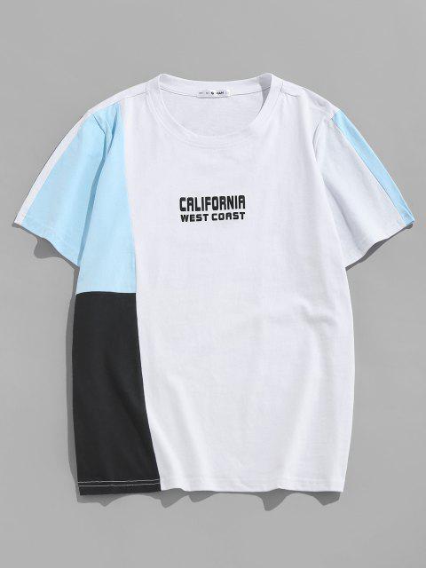 shop ZAFUL CALIFORNIA WEST COAST Colorblock T-shirt - MULTI XXL Mobile