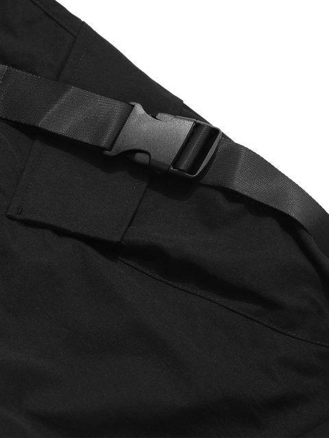 Schnallenriemen Multi Taschen Toggle Manschette Cargo Hose - Schwarz L Mobile