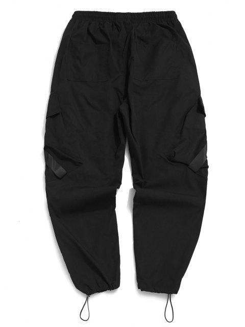 Pantalones de Carga con Correa de Hebilla de Multi-bolsillo - Negro 2XL Mobile