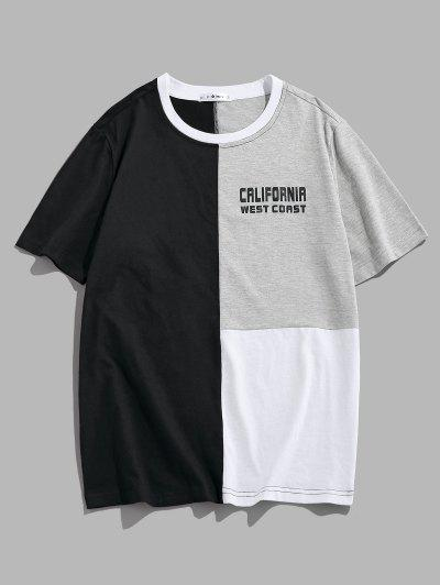 ZAFUM California West Coast Colorblock Panel T-Shirt - Multi L