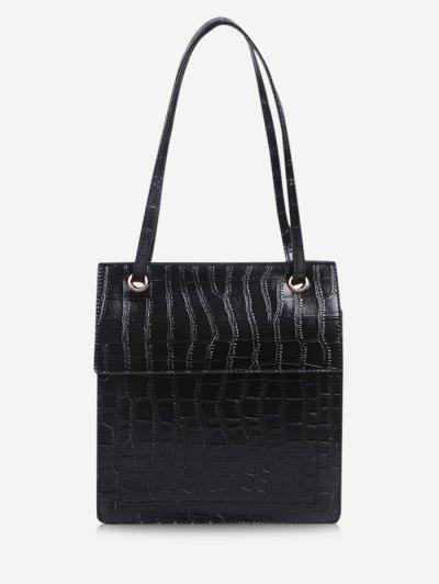 Stone Grain Cover Tote Bag - Black