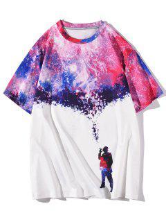 Galaxy Smoking Figure Short Sleeve T-shirt - White Xxl
