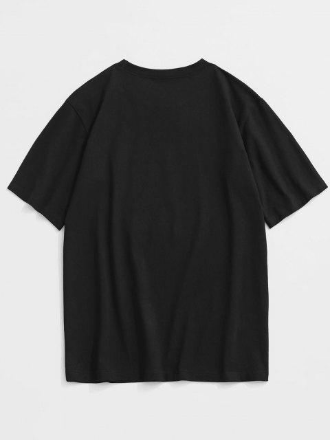 fashion ZAFUL TOKYO Print Graphic T-shirt - BLACK XL Mobile