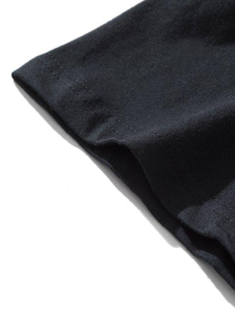 shop Dragon Chinoiserie Short Sleeve T-shirt - BLACK L Mobile