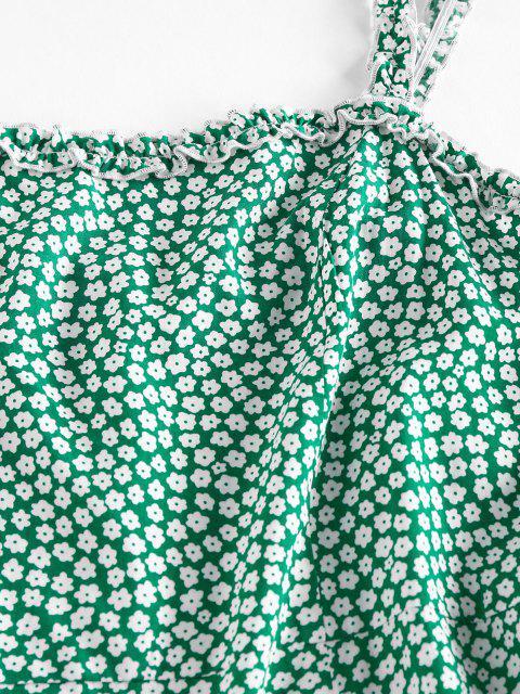 ZAFUL Ditsy Blumen Rüschen Cami Sommerkleid - Dunkelgrün XL Mobile