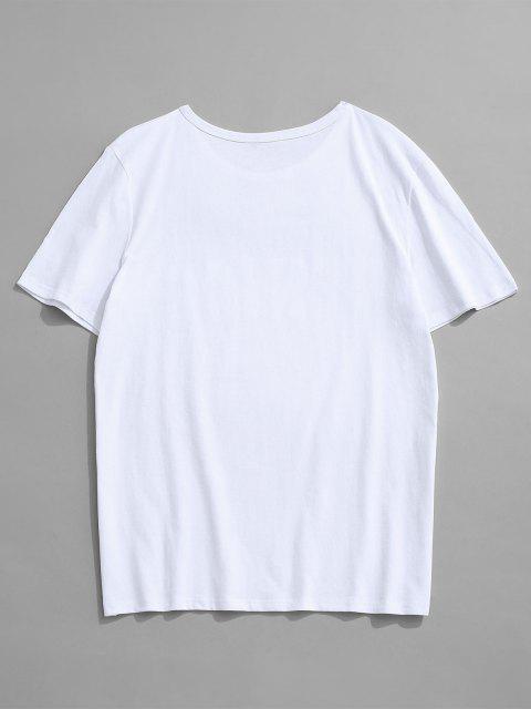 T-Shirt Basic con Maniche Corte - Bianca L Mobile