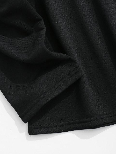 Moletom desproporcional rasgada com gargantilha solta - Preto XL Mobile