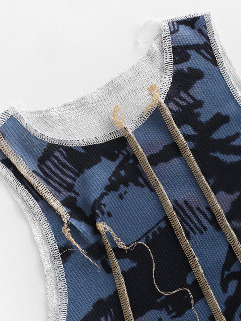 Canotta di Tie-Dye a Coste - Multi Colori S Mobile