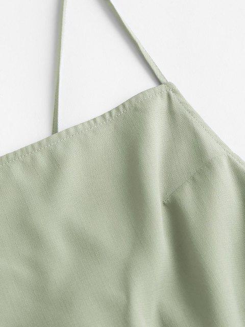 ZAFUL Kreuzes und Queres Gebundenes Rückenfreies Cami Kleid - Hellgrün M Mobile