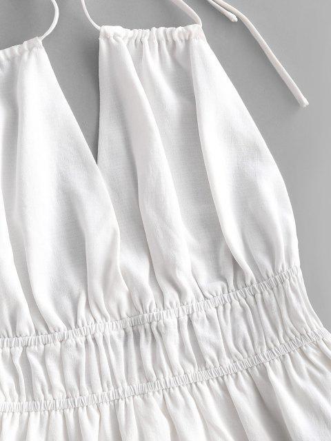 women ZAFUL Strappy Halter Backless Skorts Romper - WHITE S Mobile
