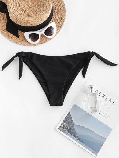 ZAFUL Low Waist Tie Knot Bikini Bottom - Black L