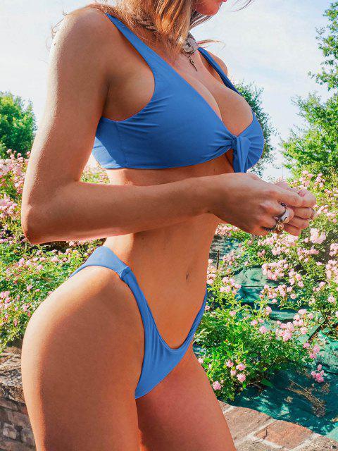 ZAFUL Bikini con Nudo - Azul Océano  S Mobile