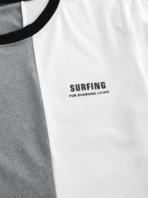 ZAFUL Camiseta Suelto con Estampado de Letras - Negro S Mobile