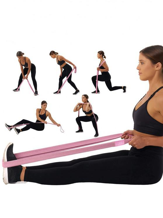 shops 3PCS 2M Yoga Circular Resistance Band Set - MULTI