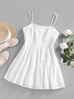ZAFUL Gestickte Spitze Mini Tischplatte Sie Ihre Verschiedenen Kleider - Weiß S