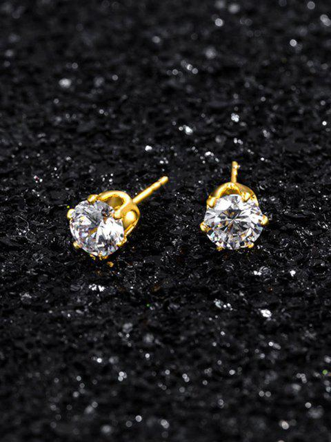affordable Zircon Inlaid Stud Earrings - GOLDEN  Mobile