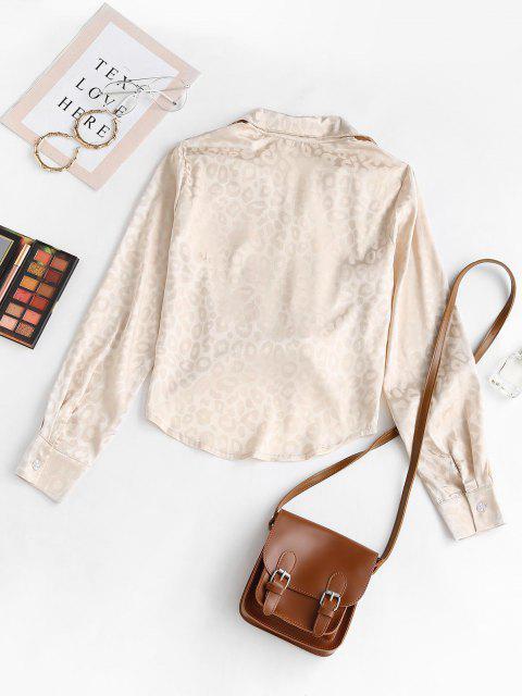 Camisa Jacquard Leopardo Botones - Amarillo claro L Mobile