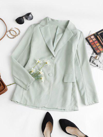 Blazer Con Bavero E Tasca Con Patta A Monopetto - Verde Chiaro L