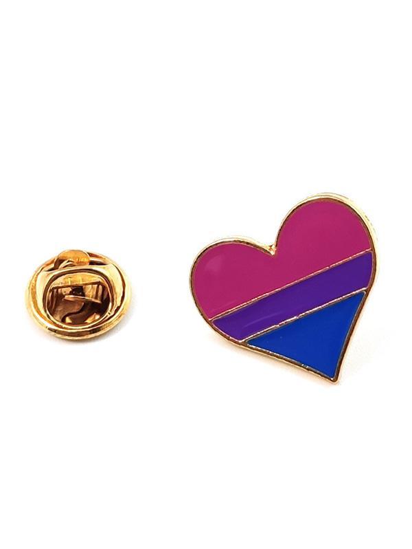 zaful Heart Rainbow Pattern Brooch