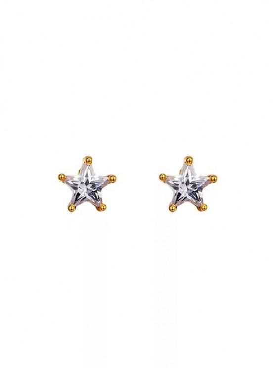 outfits Star Shape Zircon Inlay Stud Earrings - GOLDEN