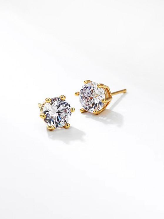 best Zircon Inlay Stud Earrings - GOLDEN